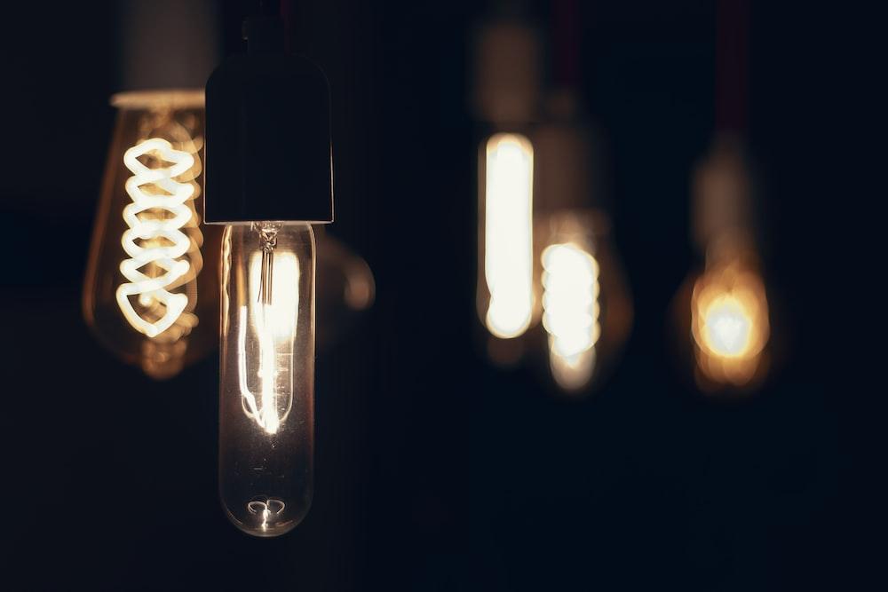 selective focus photography of bulbs