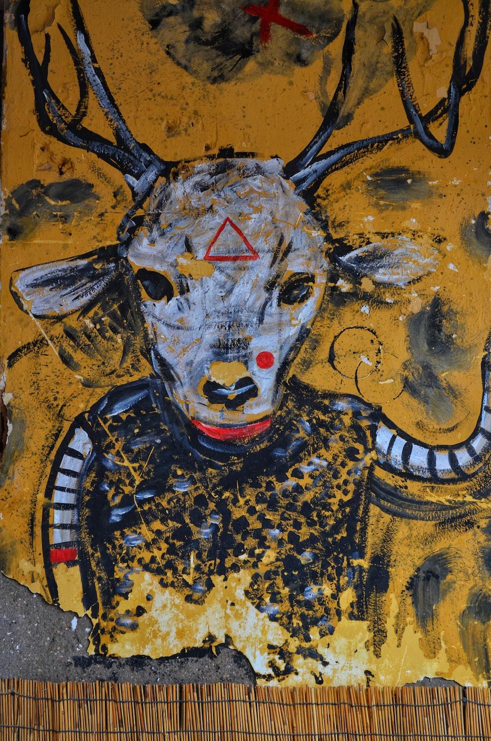 white goat illustration