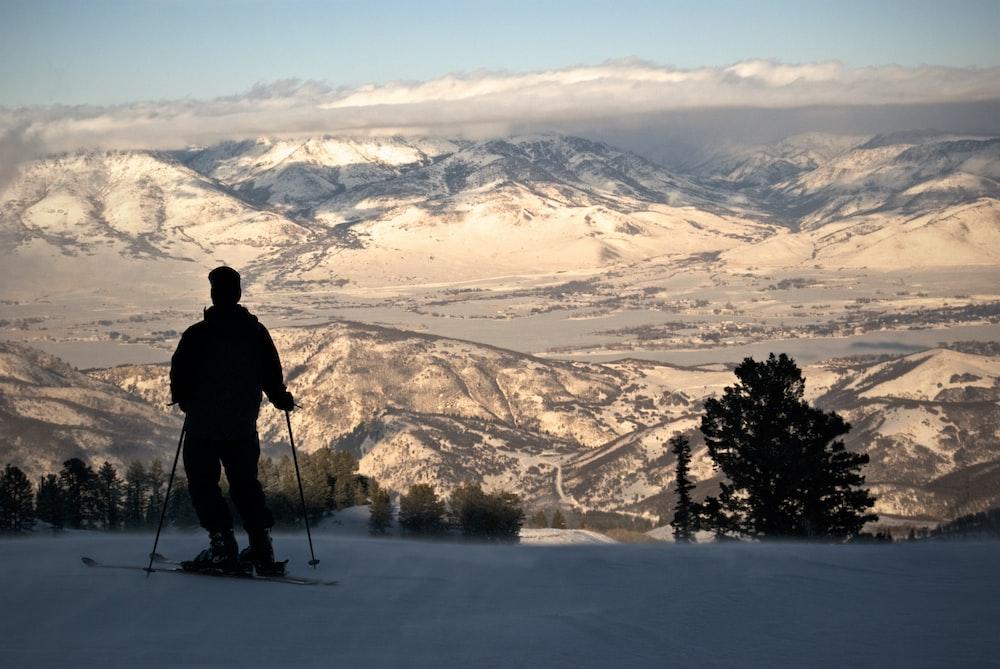 man on ski blade