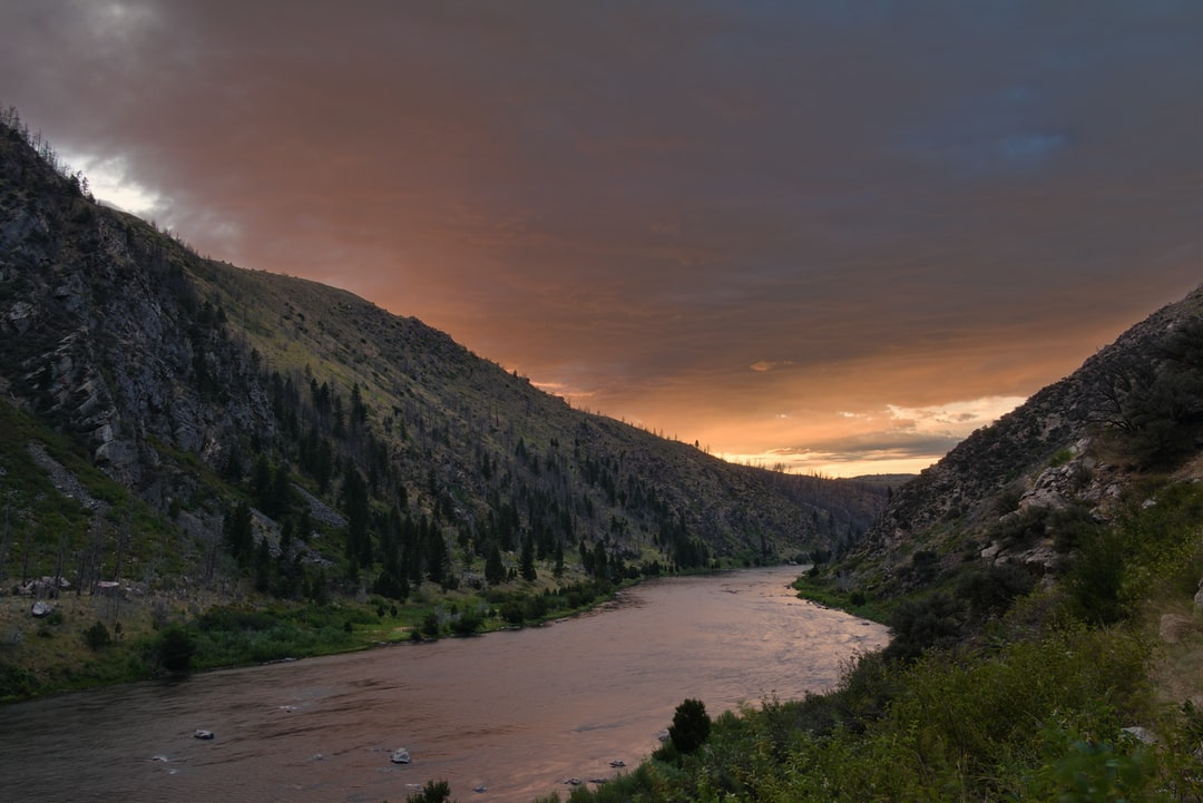 Sunset over the Madison River in Montana.