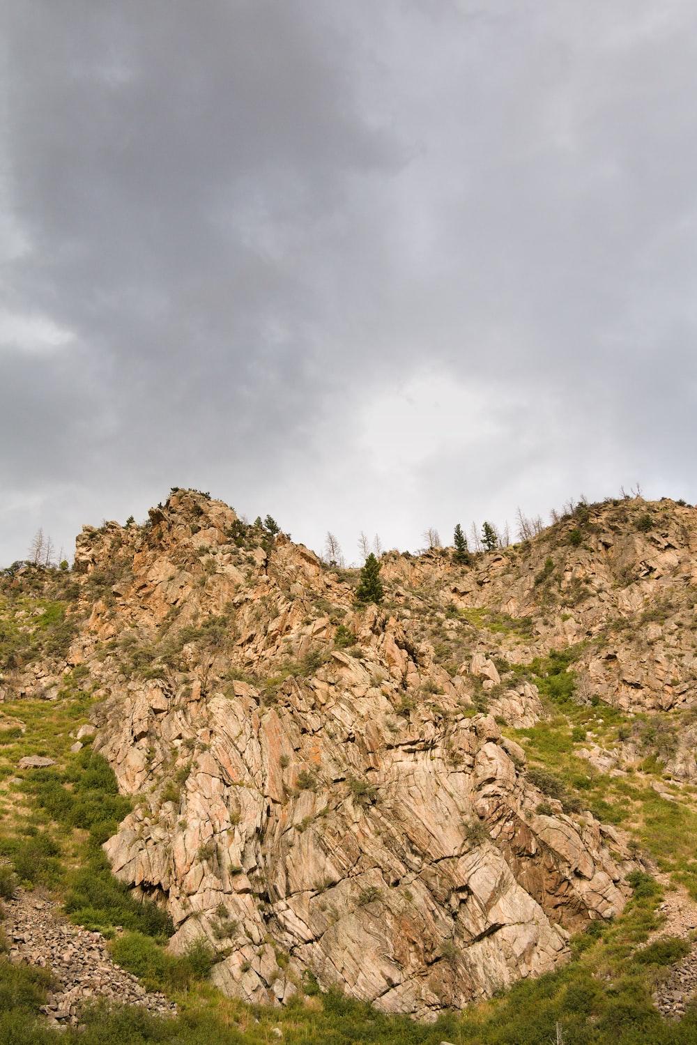 brown mountain rock