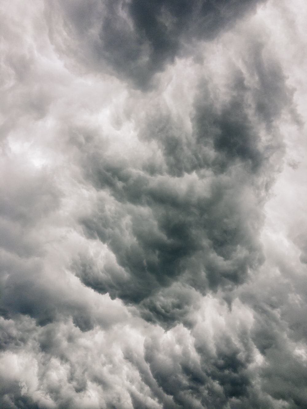 thick white clouds