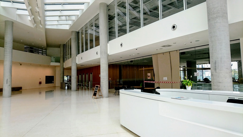 Reception white building interior