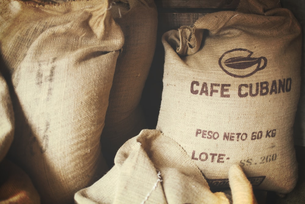 brown cafe cubano sacks