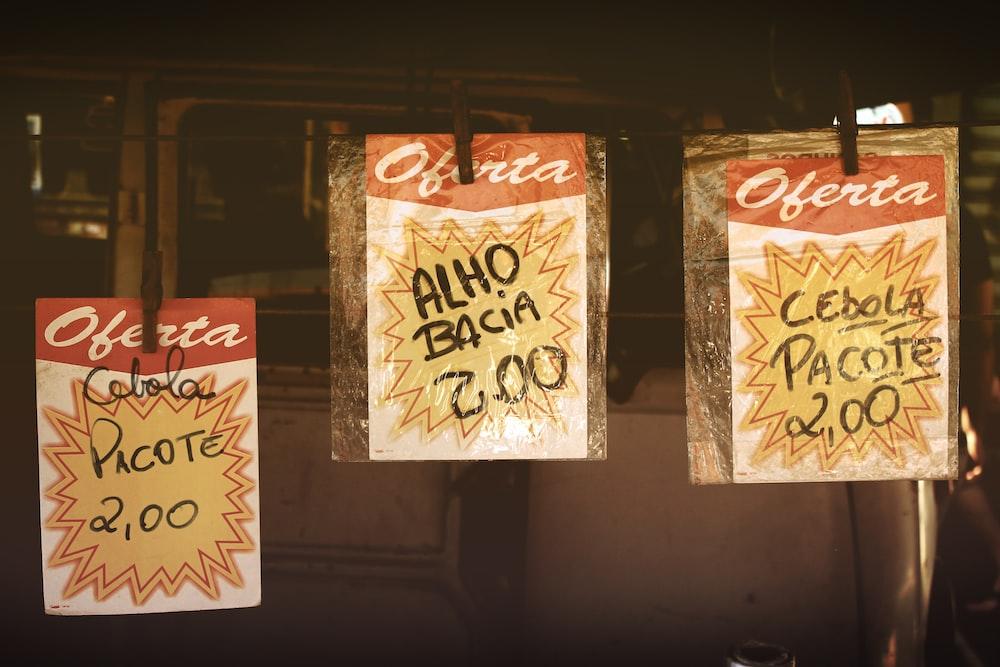Oferta Alho Bacia 2.00 signage