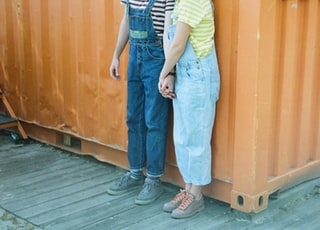 blue denim overall pants