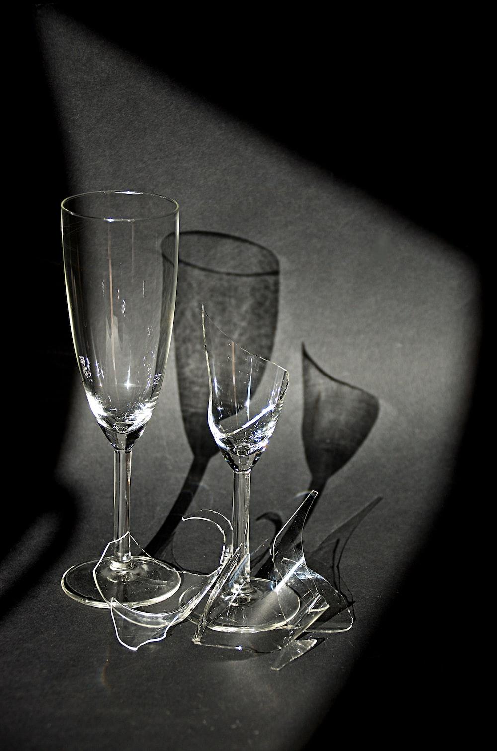 broken champagne flute