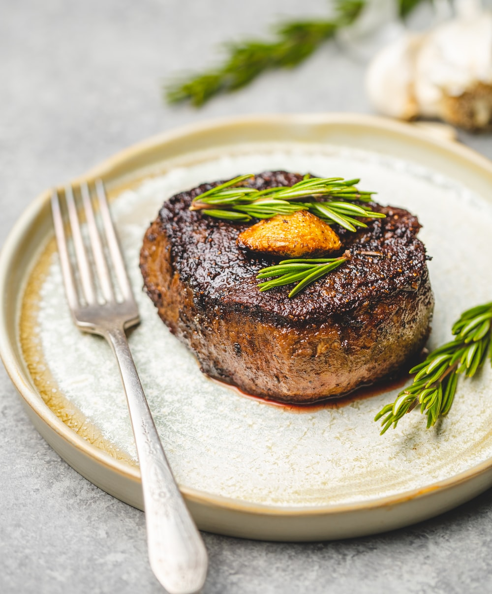 beef steak with fork