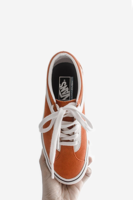orange Vans sneaker