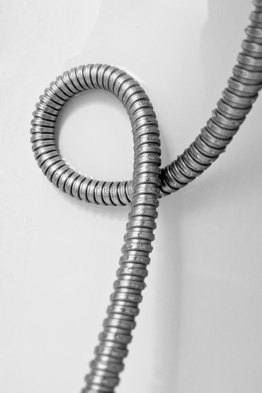 grey metal flex hose