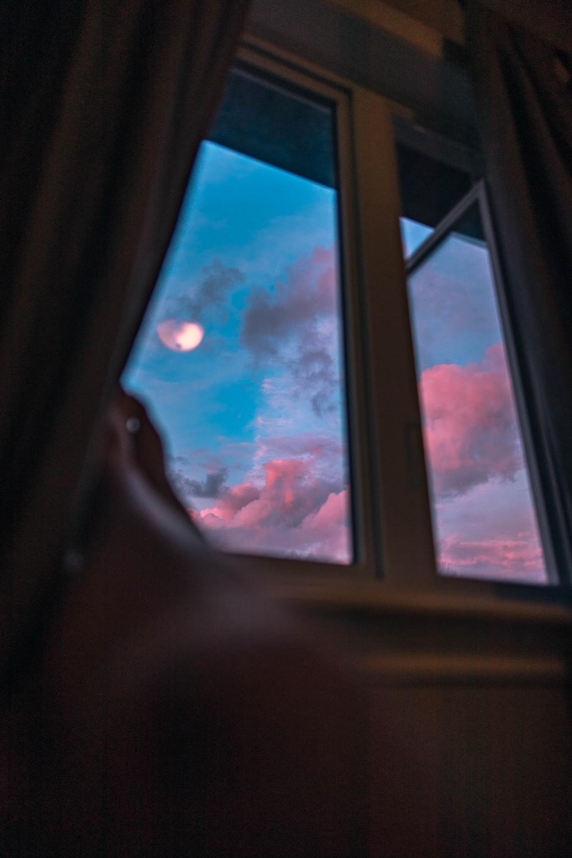 open clear glass window