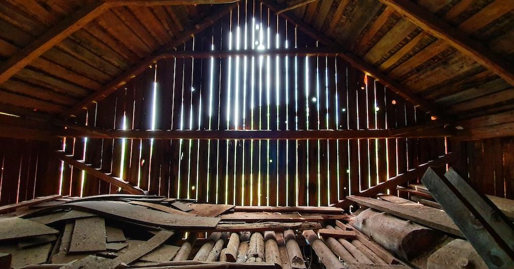 brown wooden room \