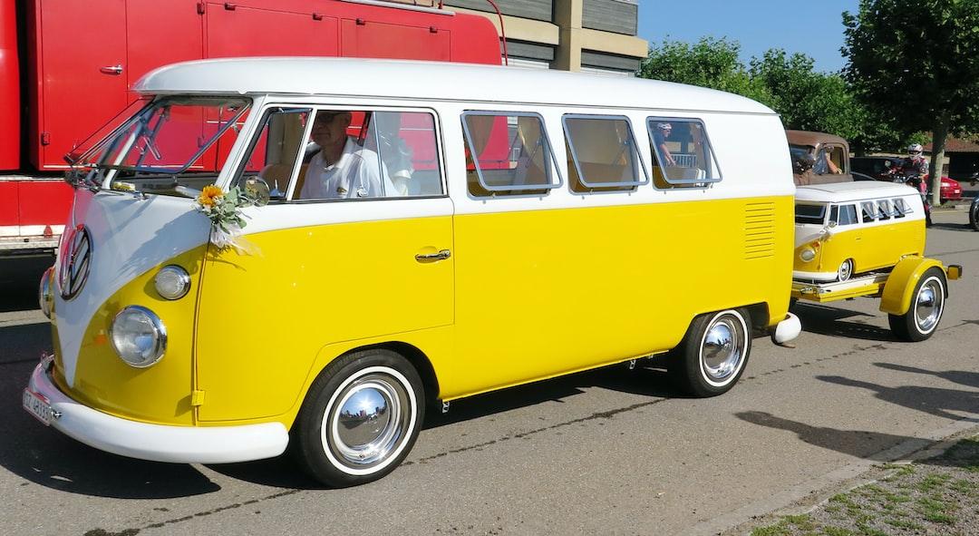 Volkswagen Samba with baby