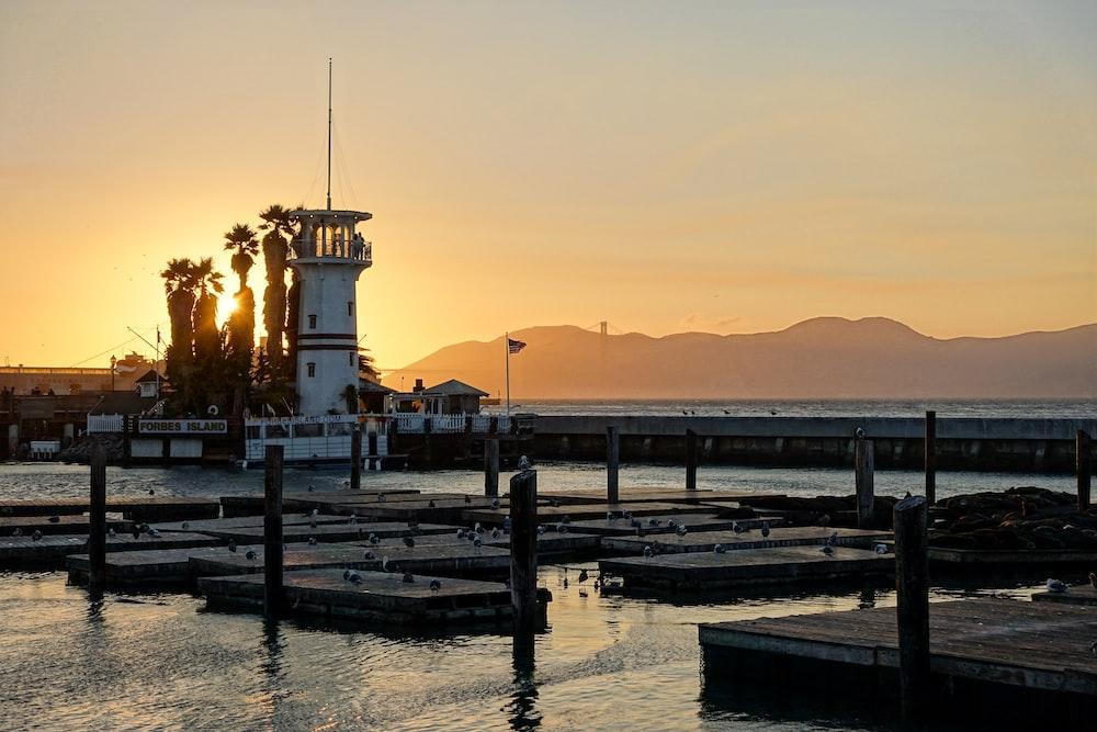 dock during golden hour