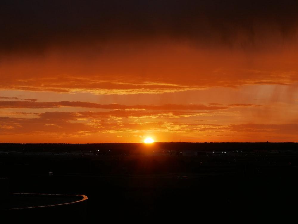 photo of sun set