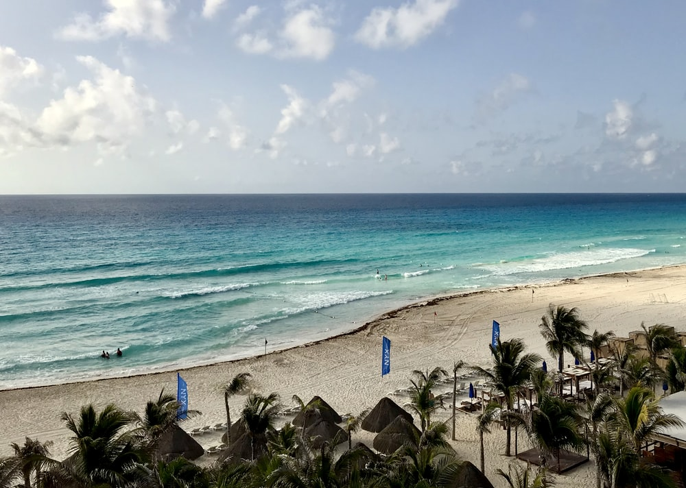 landscape photo of a beach resort