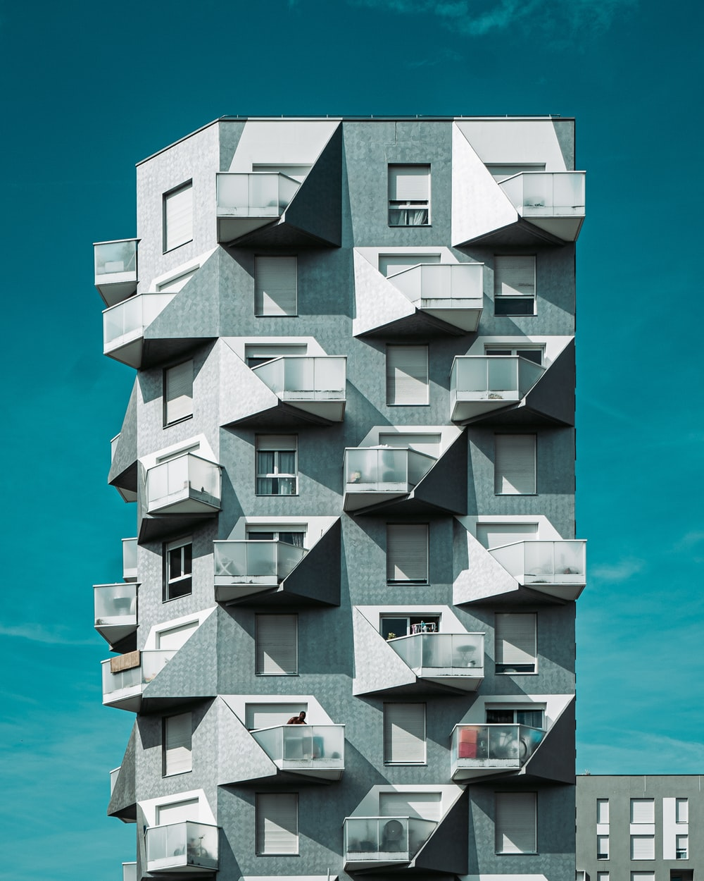 white and gray building concept