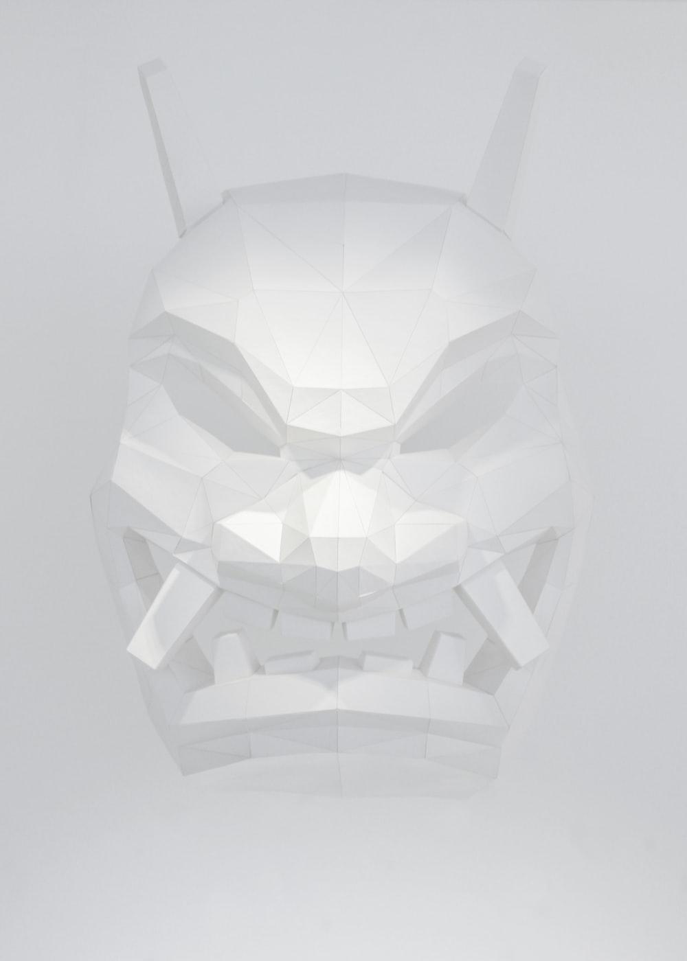 white monster mask