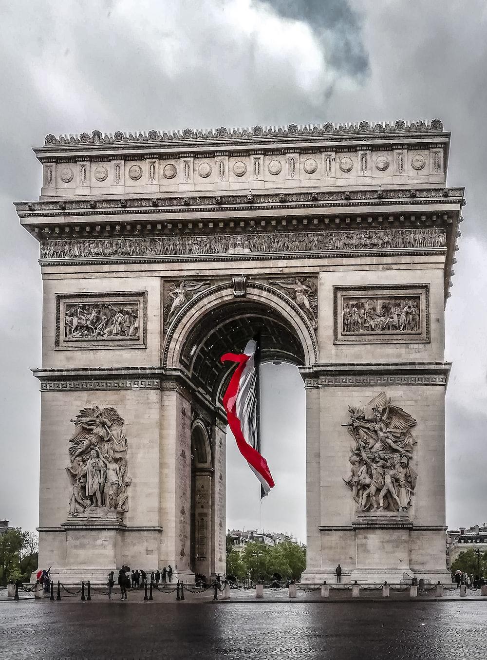 Arch de Triuphe France during daytime