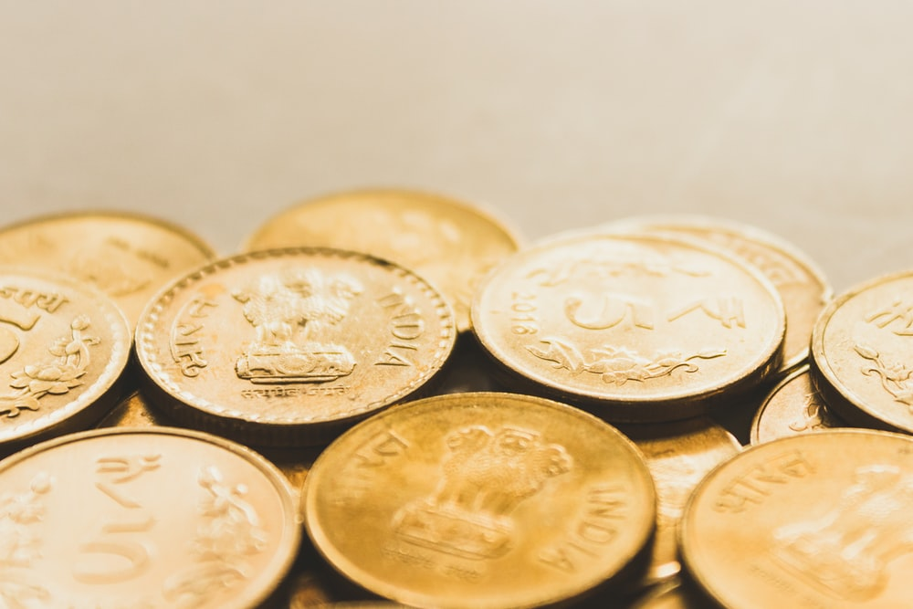 round gold-colored coin lot