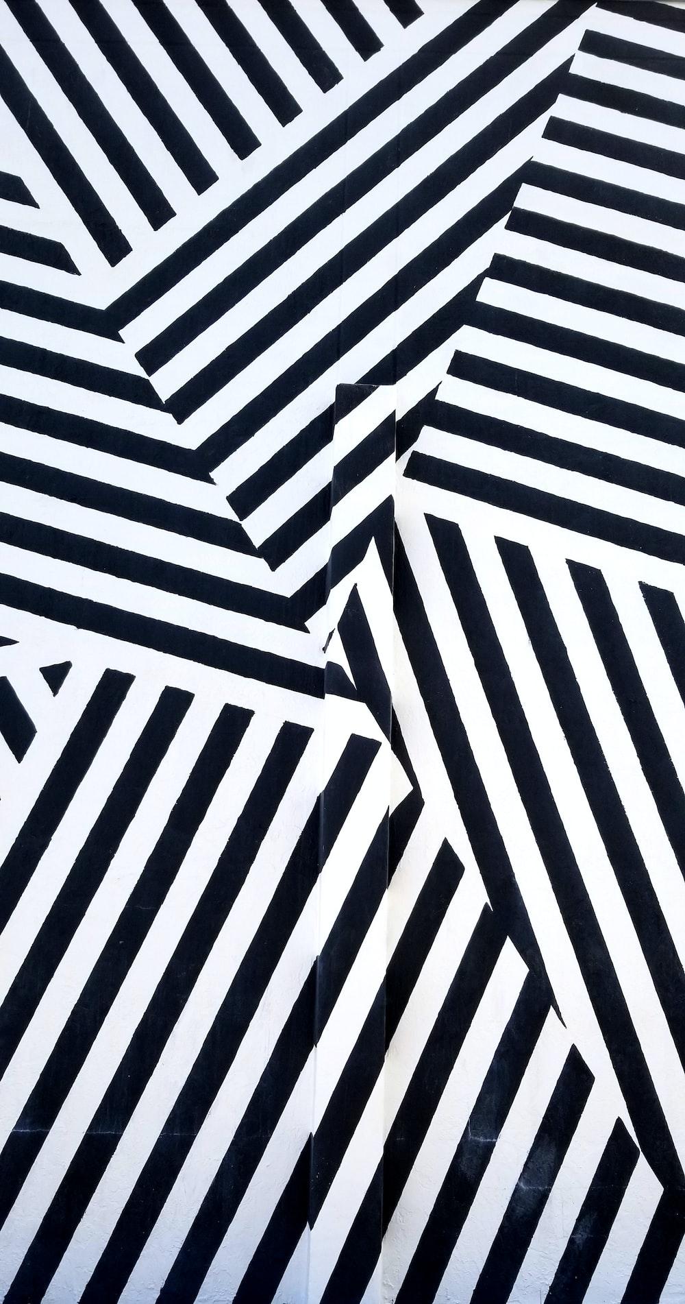 black and white stripe wallpaper