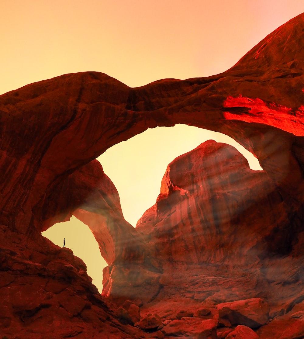 geological formation during golden hour