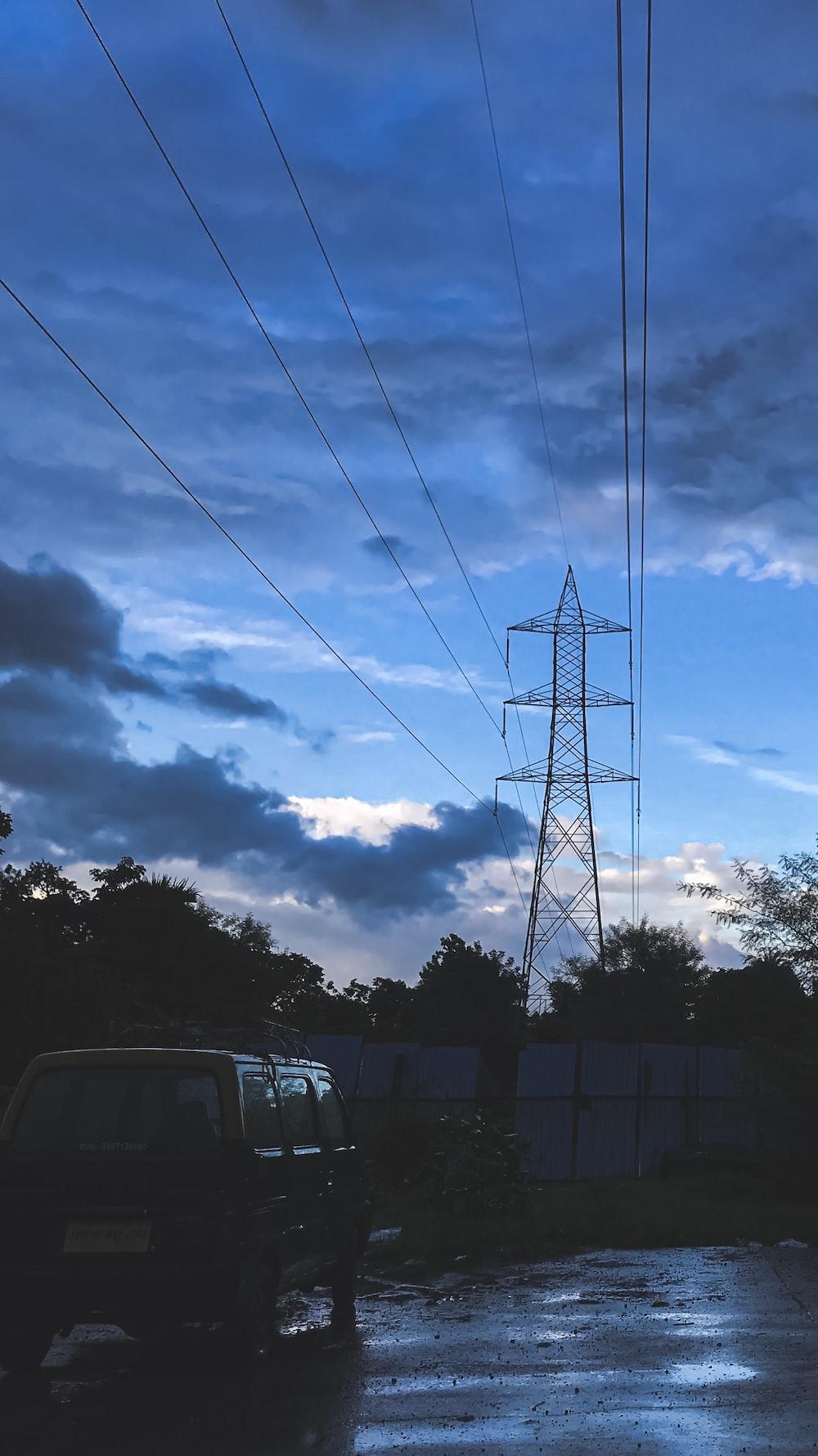 van under electric cable
