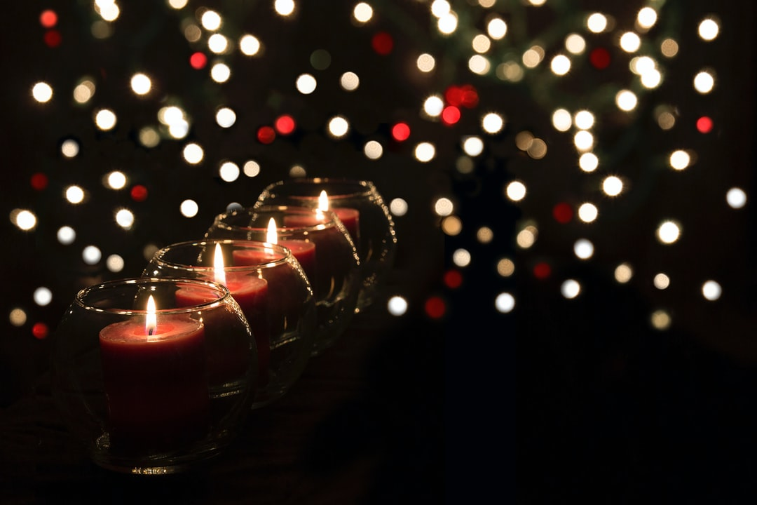 Candles and Bokeh during Advent holiday.