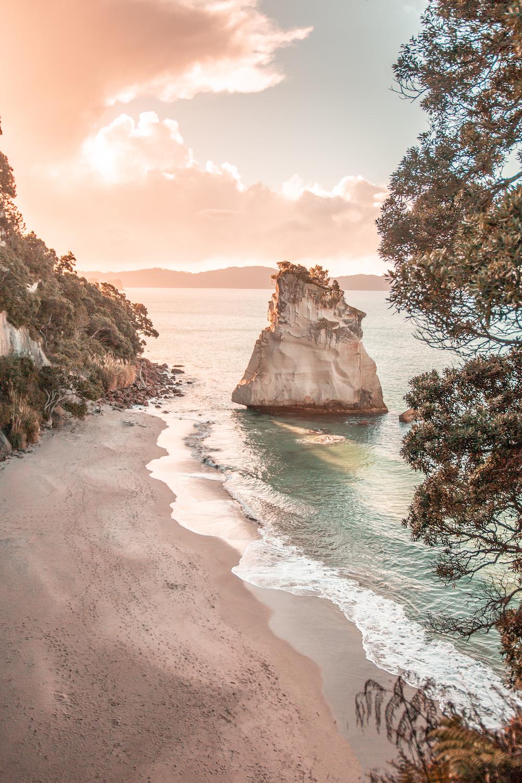 rock island near seashore