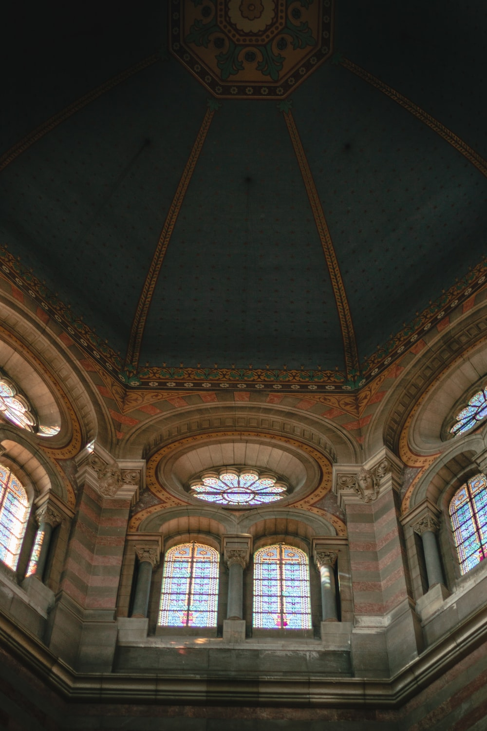 brown and gray building interior