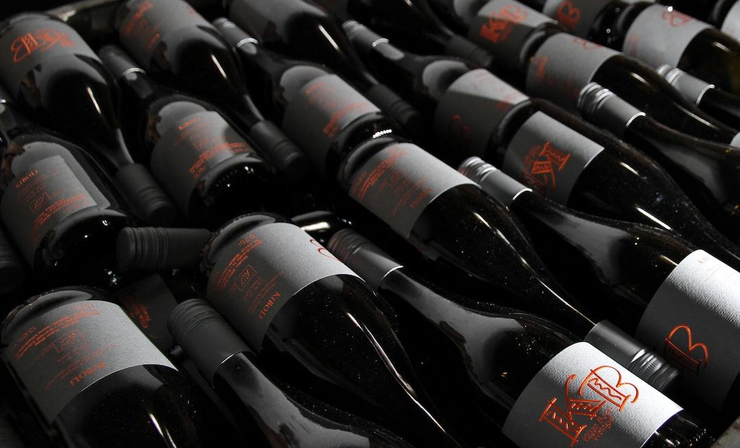 Wine bottles waiting to be sold, Winery Kilian Bopp, Edenkoben, Germany, April 2017