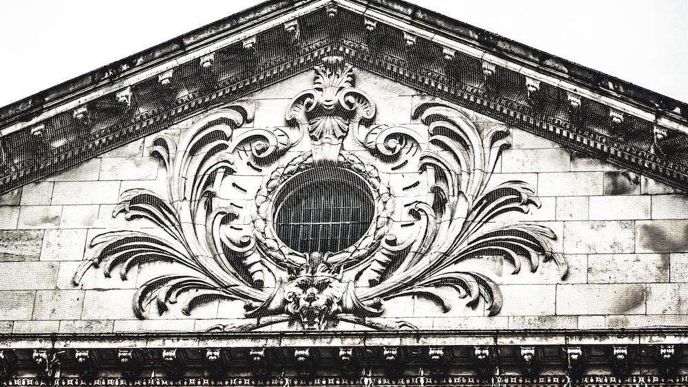 white ornate embossed building