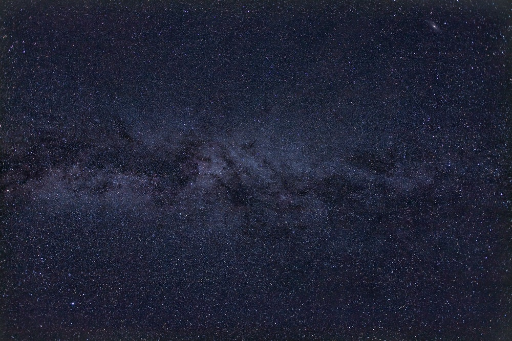 black and blue milky way