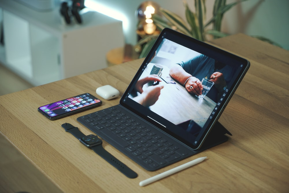 turned on iPad