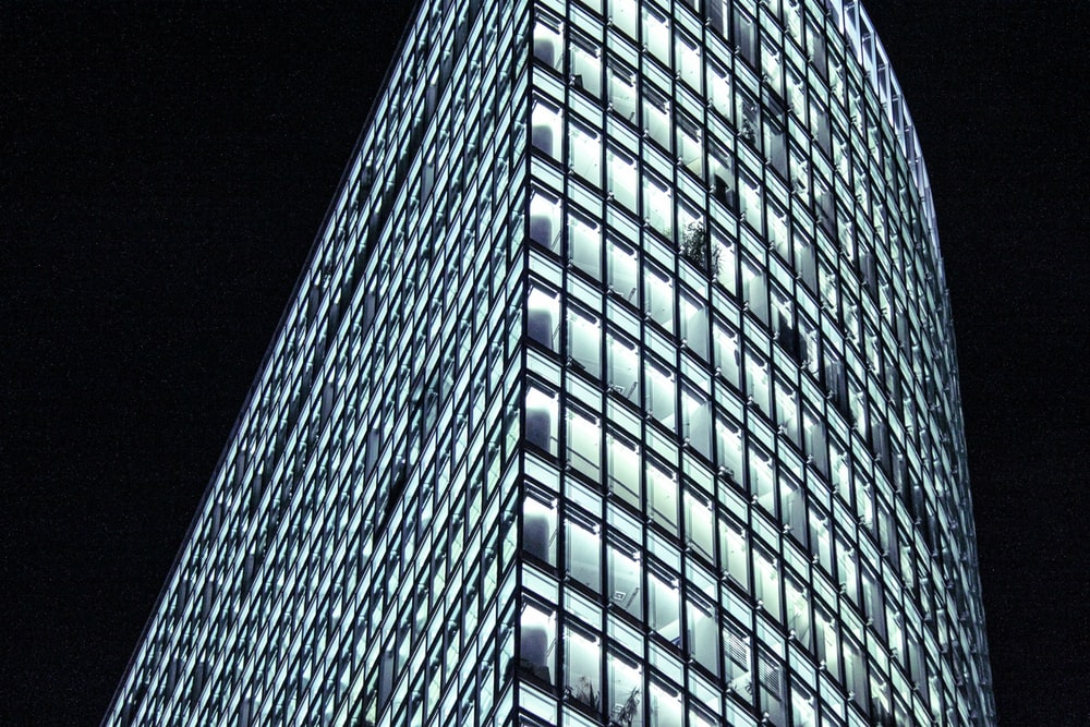 high-rise curtain-wall building