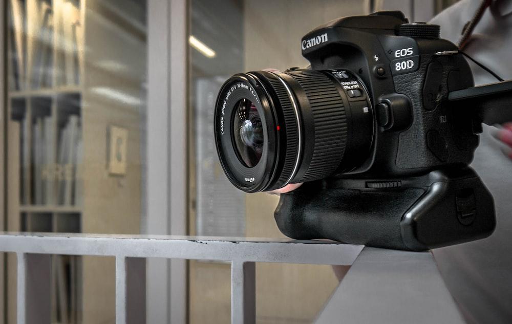 black Canon EOS 80D camera