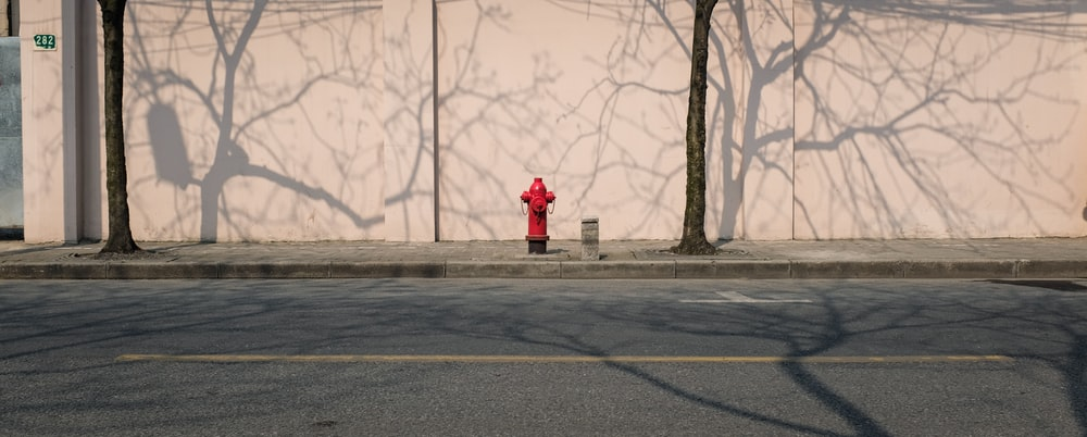 fire hydrant along side road