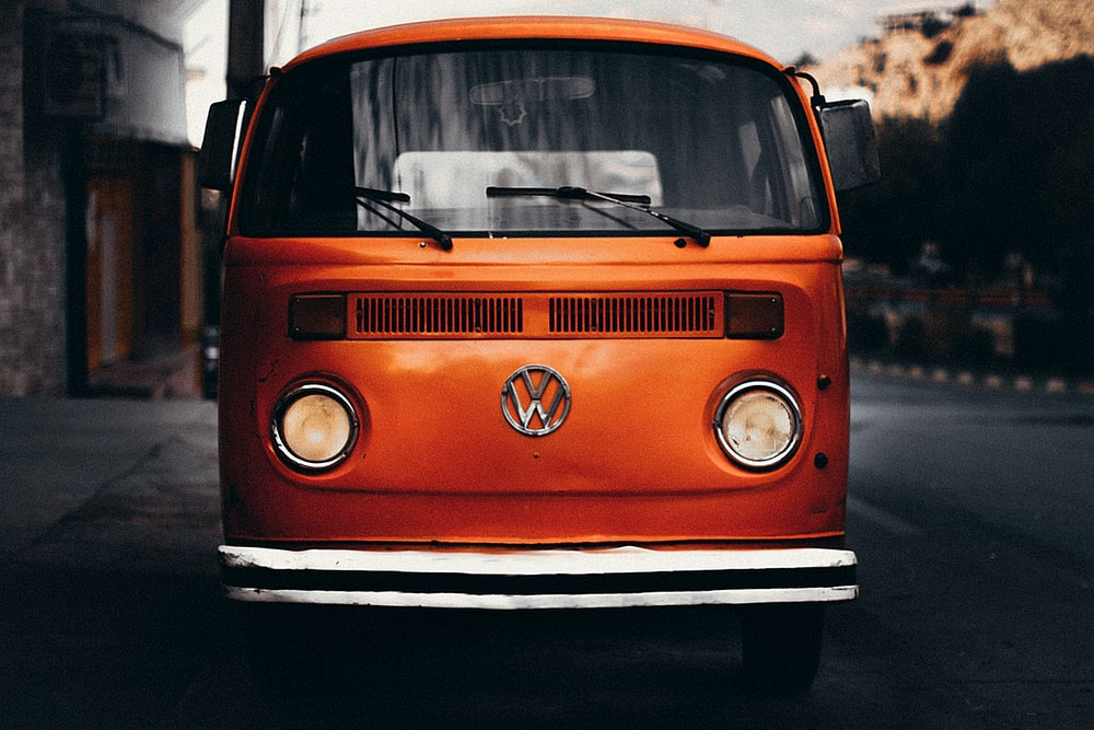 orange Volkswagen T1