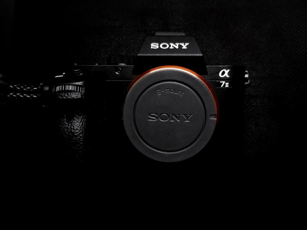 black Sony AX camera