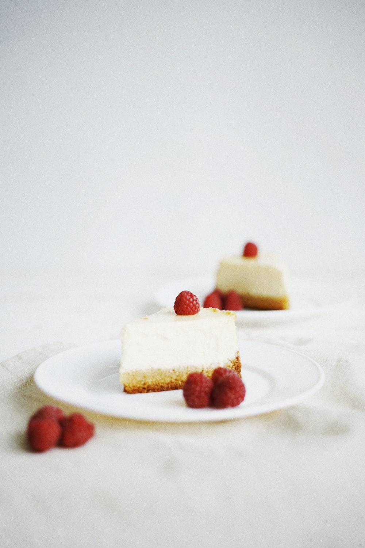 two strawberry pie slices