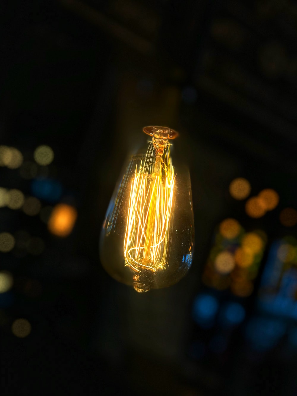 lighted incandescent bulb