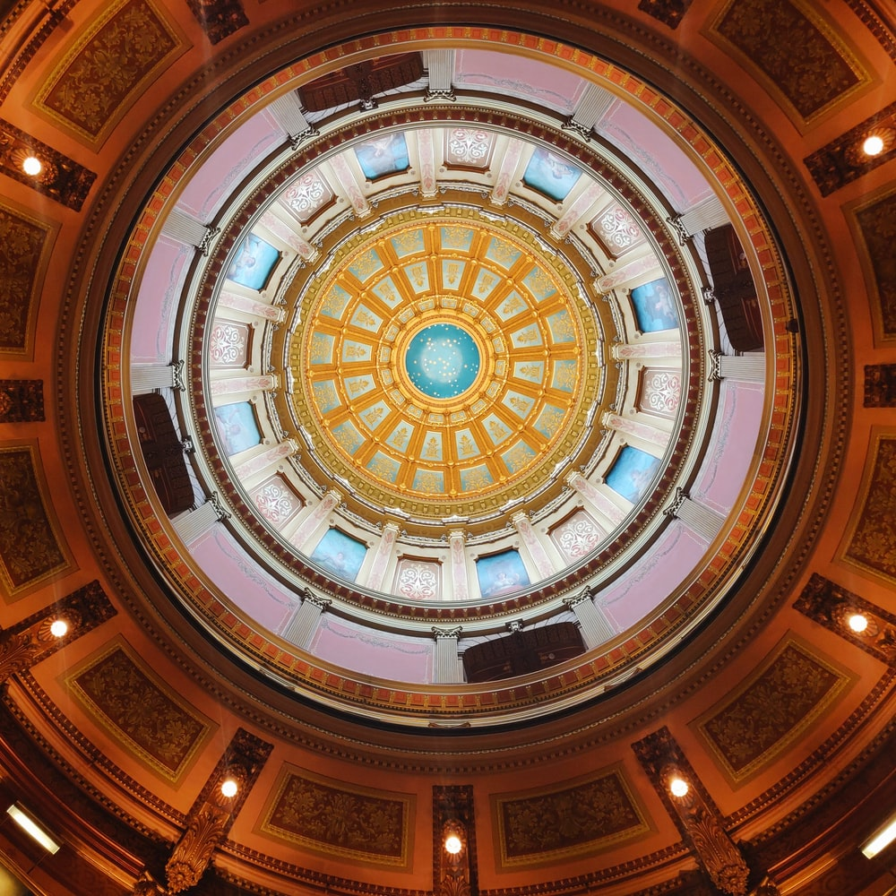 multicolored round dome ceiling