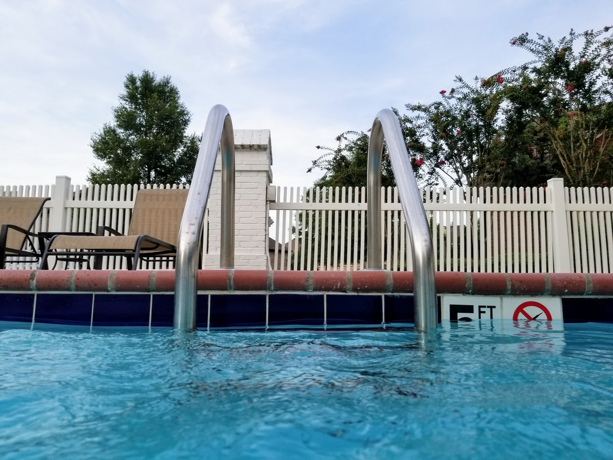 Pool fence in Odessa, Texas