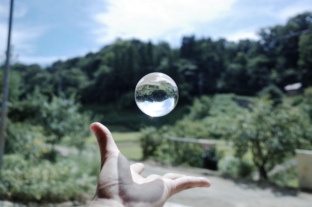 clear glass ball