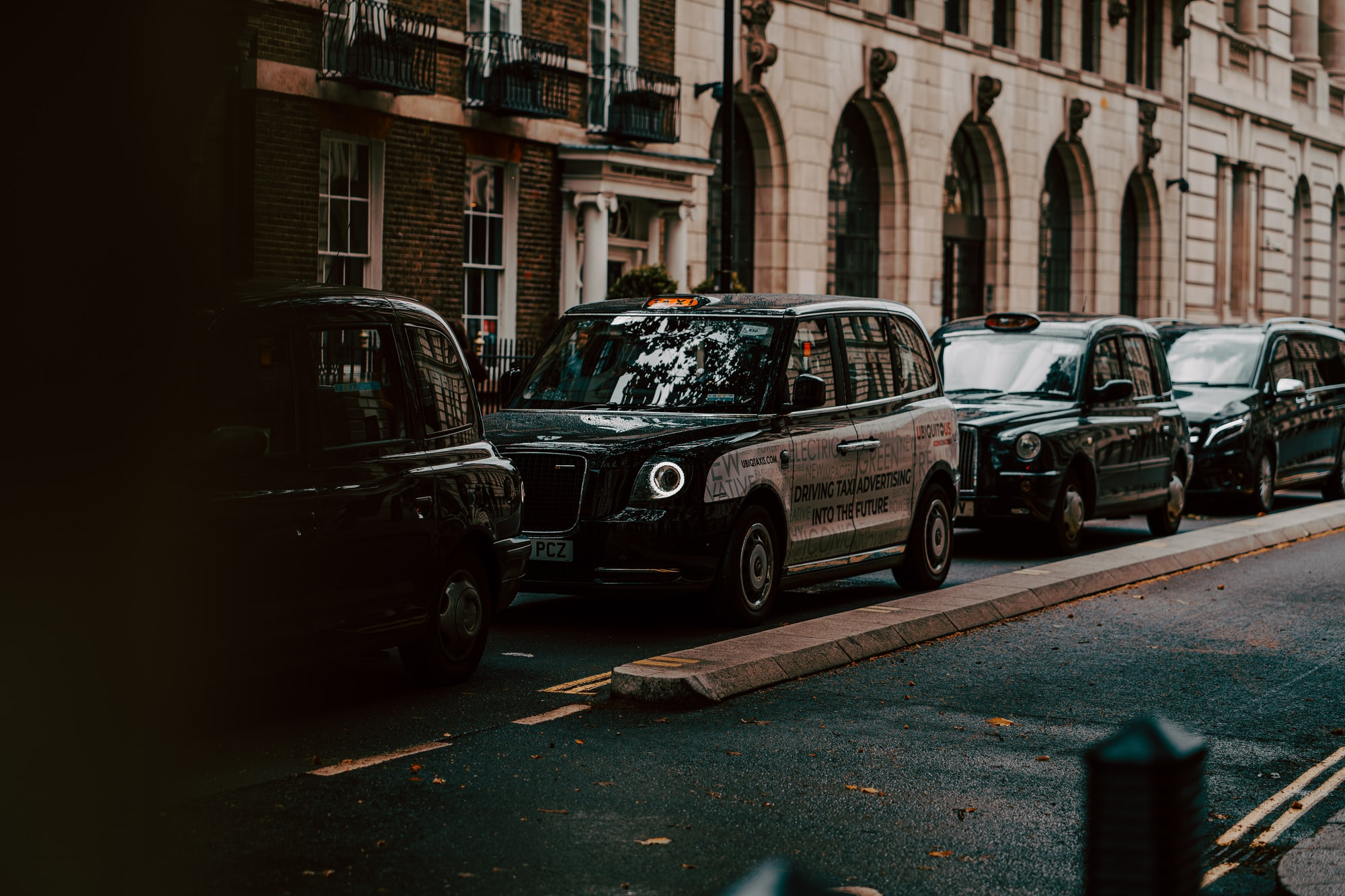 Classic London Taxi (Black Cab) shot in London Town.