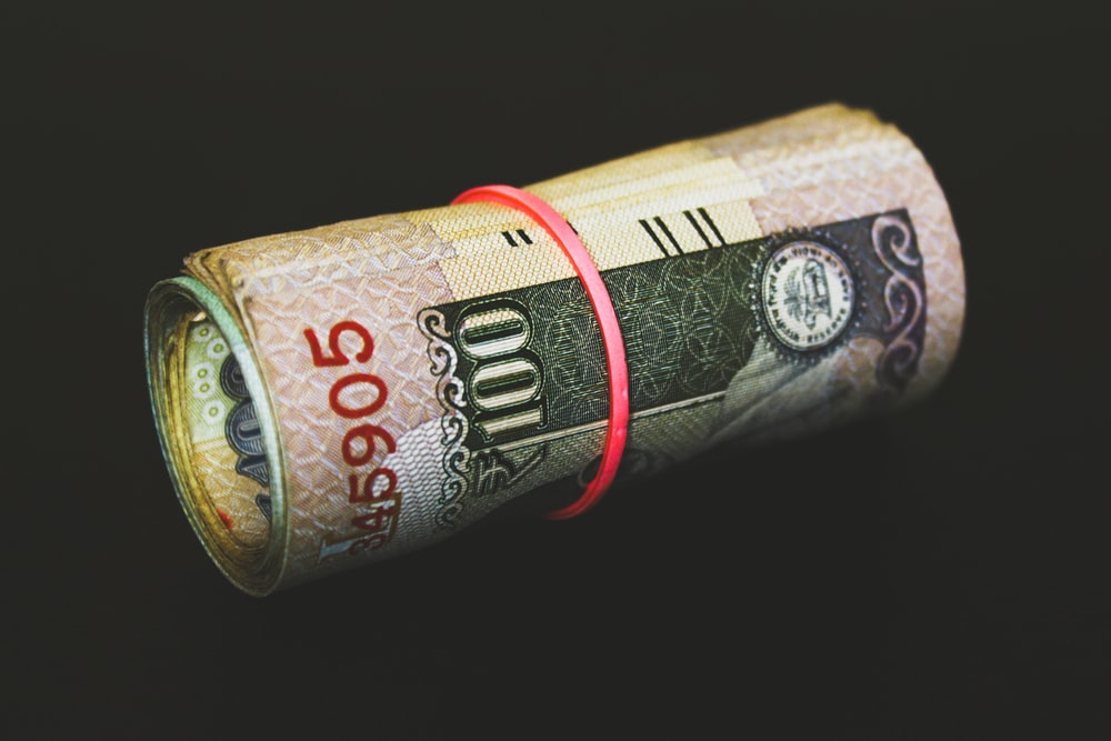rolled banknotes