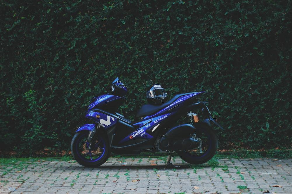 blue underbone motorcycle