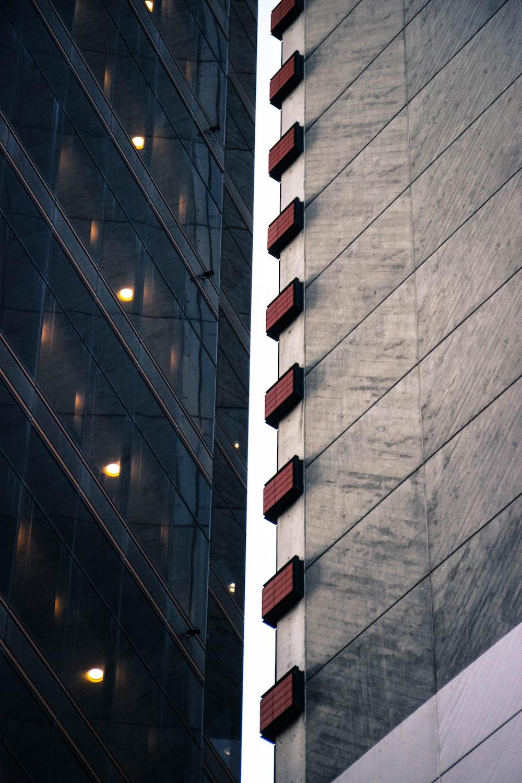 black high-rise building