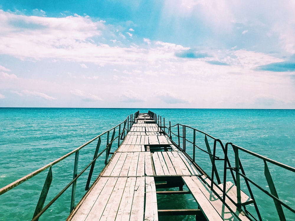 wooden dock during daytime