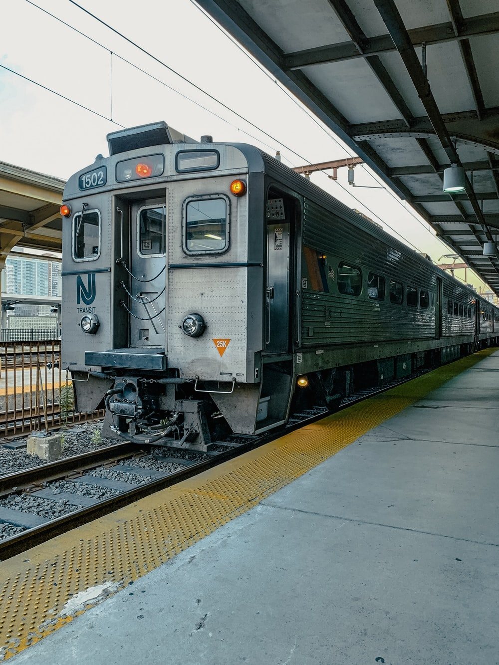 gray and black train